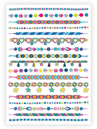 "Temporary tattoos ""Arm candy"". Set of 17 stick on tattoo bracelets by Ducky street"