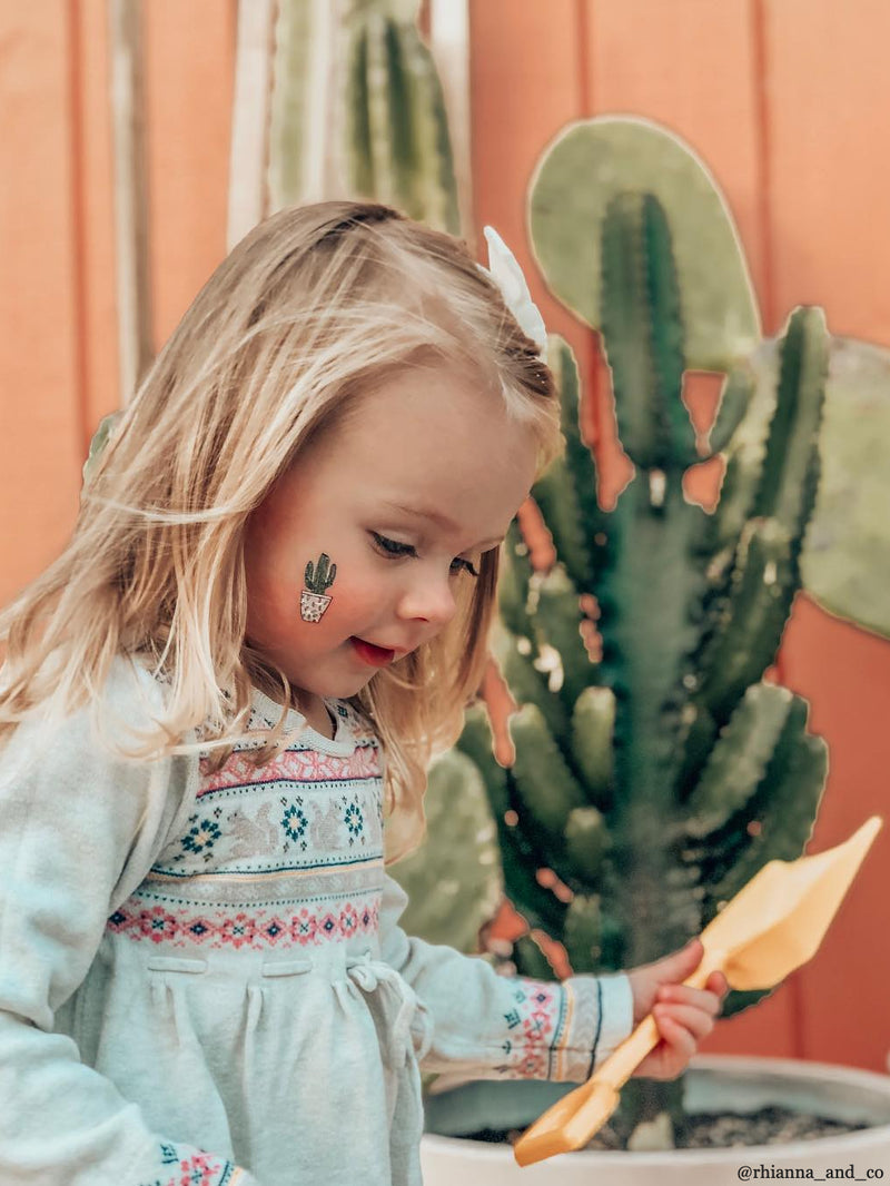 DUCKY STREET kids temporary Tattoo Cactuses designed by Anna Alekseeva - 1