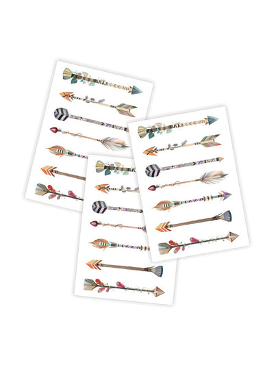 DUCKY STREET kids temporary Tattoo Arrows designed by McKenna Sato - 1