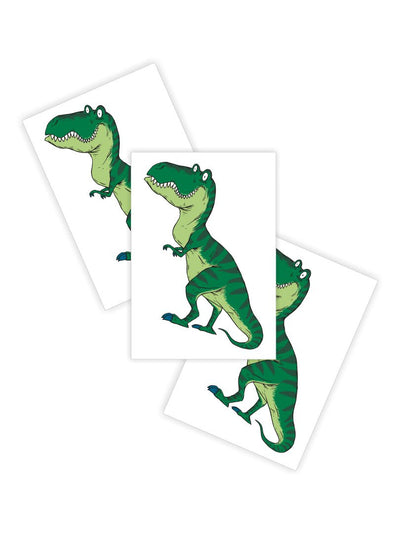 DUCKY STREET kids temporary Tattoo T-Rex designed by Ivan Nikulin - 1