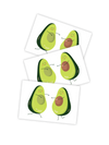Temporary tattoos Other half of Avocado. Set of 3 fruits in love tatts by Ducky street