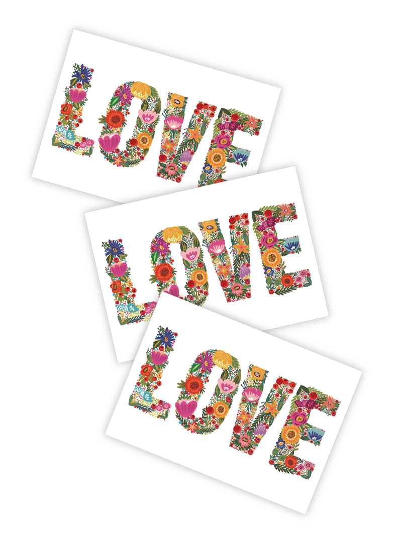 High quality temporary tattoos with Love lettering made from hand drawn flower pattern. Romantic tattoos for wedding, bacherolette party or any day to spread some love and happiness.