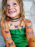 DUCKY STREET kids temporary Tattoo sheet Butterflies designed by Anastasia Lembrik - 9