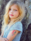 DUCKY STREET kids temporary Tattoo sheet Feathers designed by Pink Pueblo - 9