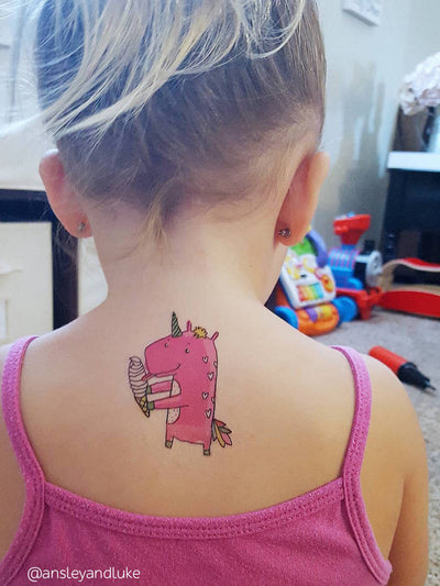 DUCKY STREET kids temporary Tattoo Unicorn designed by Anna Alekseeva - 4
