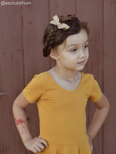 DUCKY STREET kids temporary Tattoo Flamingo designed by incomible - 3