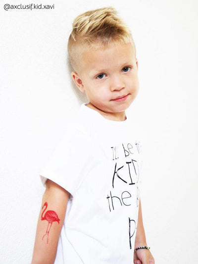 DUCKY STREET kids temporary Tattoo Flamingo designed by incomible - 6