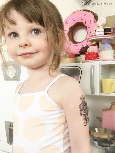 DUCKY STREET kids temporary Tattoo Robot designed by duckystreet - 2