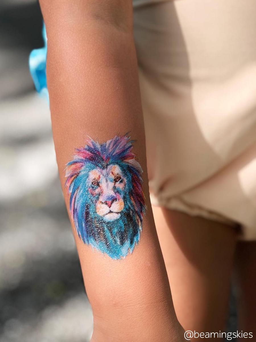 DUCKY STREET kids temporary Tattoo Lion designed by Anastasia Lembrik - 1