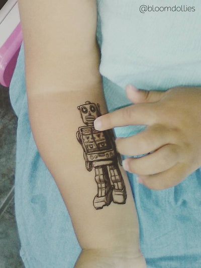 DUCKY STREET kids temporary Tattoo Robot designed by duckystreet - 3