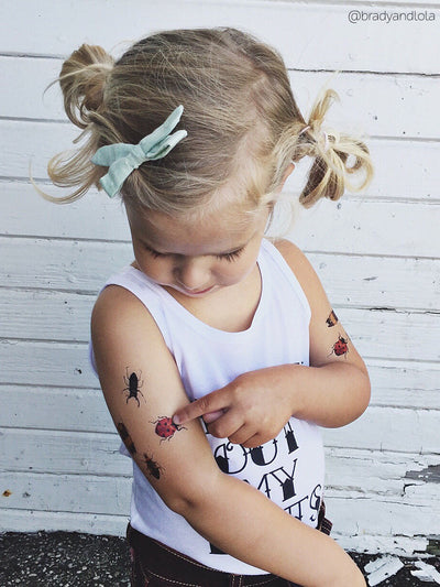 DUCKY STREET kids temporary Tattoo Beetles designed by Anastasia Lembrik - 5