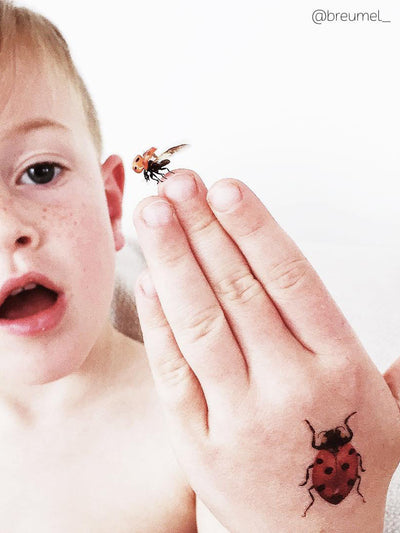 DUCKY STREET kids temporary Tattoo Beetles designed by Anastasia Lembrik - 3