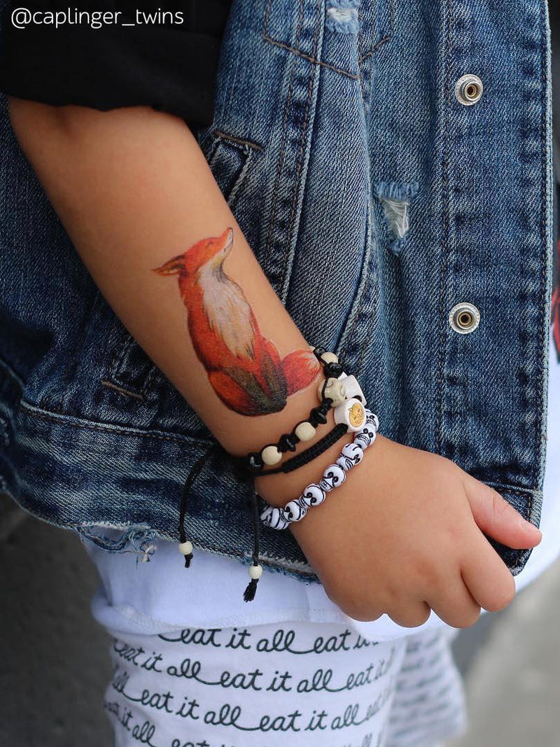 DUCKY STREET kids temporary Tattoo Fox designed by Swiejko - 1