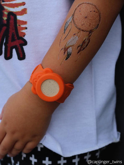 DUCKY STREET kids temporary Tattoo Watercolor dreamcatcher designed by Anastasia Lembrik - 2