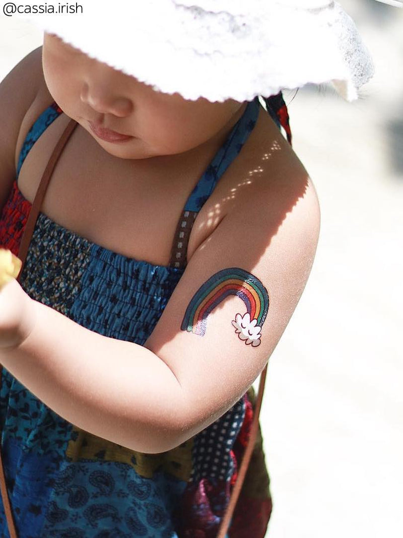 DUCKY STREET kids temporary Tattoo Rainbow designed by Mutovina Anastasya - 1