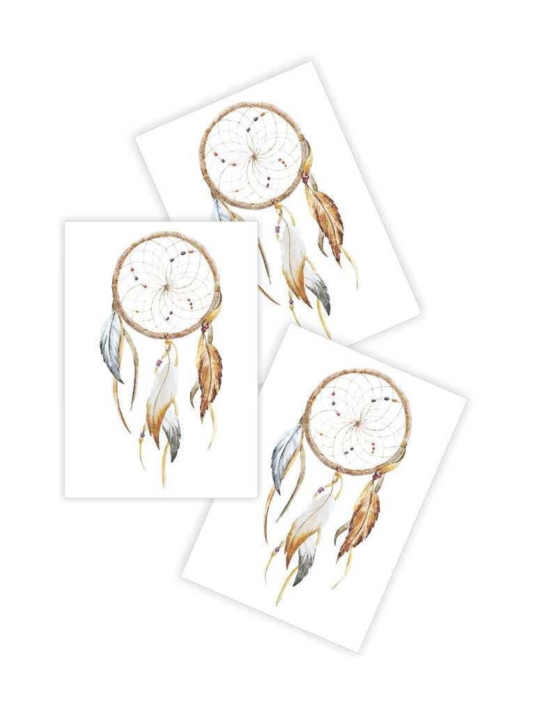DUCKY STREET kids temporary Tattoo Watercolor dreamcatcher designed by Anastasia Lembrik - 1