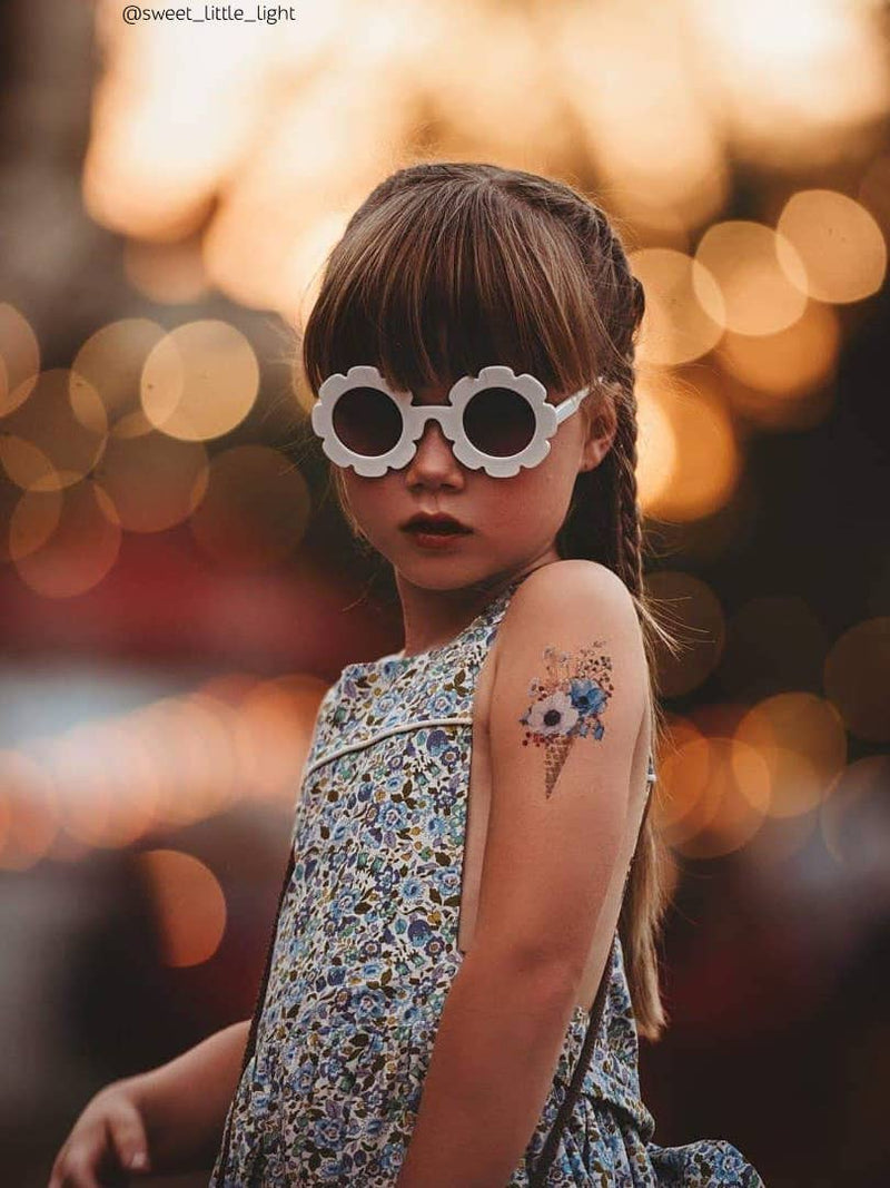 DUCKY STREET kids temporary Tattoo Flower ice cream designed by Anastasia Lembrik - 1