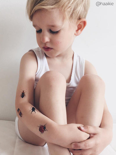 DUCKY STREET kids temporary Tattoo Beetles designed by Anastasia Lembrik - 8