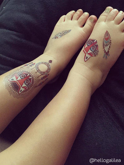 DUCKY STREET kids temporary Tattoo sheet Tribal designed by Mutovina Anastasya - 7