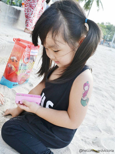 DUCKY STREET kids temporary Tattoo Little mermaid designed by Anna Alekseeva - 4