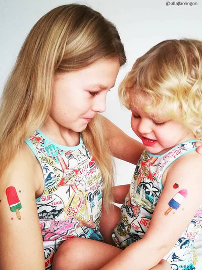 Ice lolly temporary tattoos for kids birthday party by Ducky street
