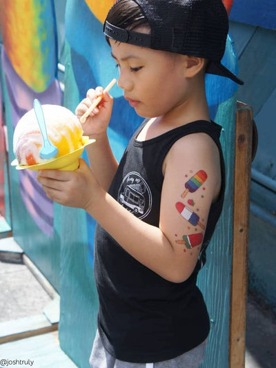 High quality ice cream temporary tattoos set by Ducky street