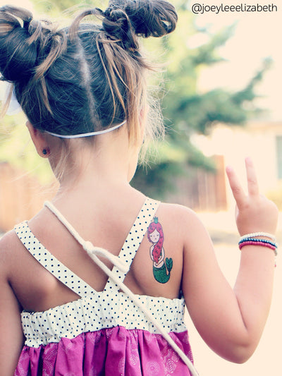 DUCKY STREET kids temporary Tattoo Little mermaid designed by Anna Alekseeva - 9