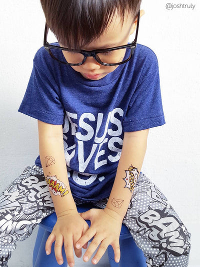 DUCKY STREET kids temporary Tattoo Baaam! designed by duckystreet - 5