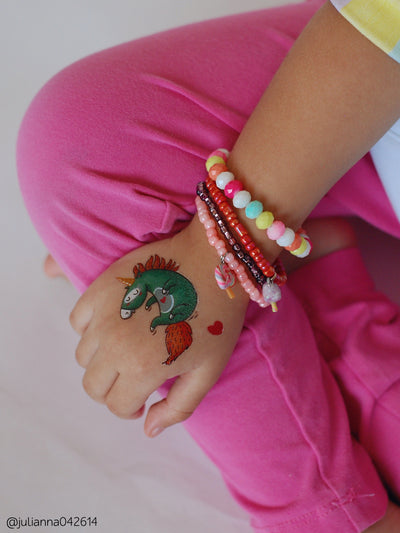 Lovely unicorn temporary tattoo for the best ever girls unicorns birthday party!
