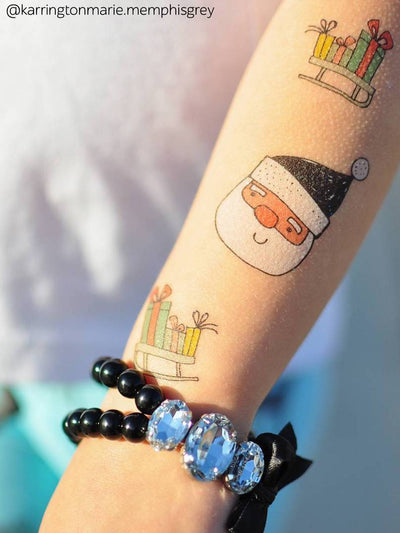DUCKY STREET kids temporary Tattoo sheet Festive doodles designed by Marina Zlochin - 9