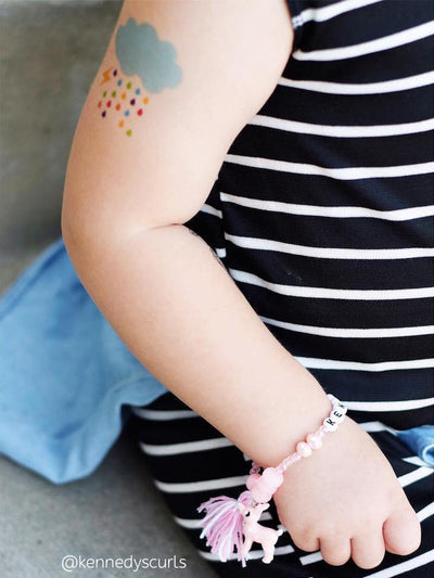 DUCKY STREET kids temporary Tattoo Cloud designed by Pink Pueblo - 7