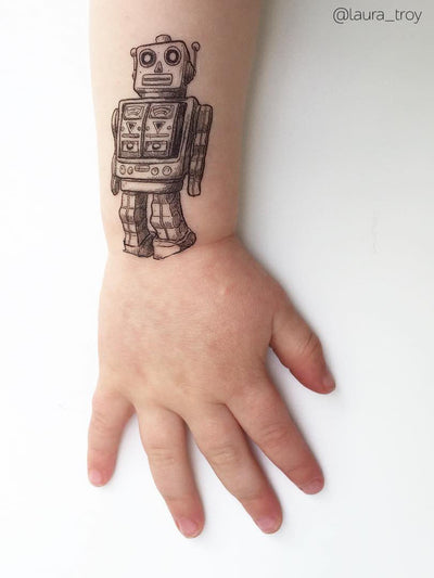 DUCKY STREET kids temporary Tattoo Robot designed by duckystreet - 8