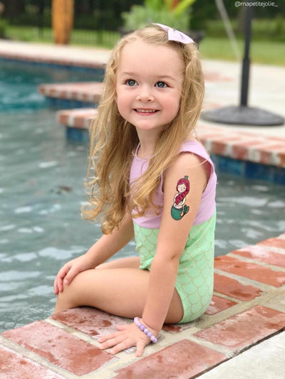 High quality waterproof littele mermaid princess kids temporary tattoo by Ducky street