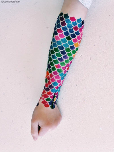 Mermaid scales skin effect bodyart temporary tattoo by Ducky street
