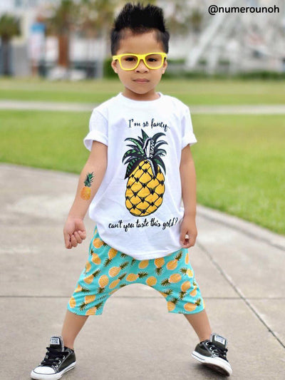 DUCKY STREET kids temporary Tattoo Pineapple designed by duckystreet - 5