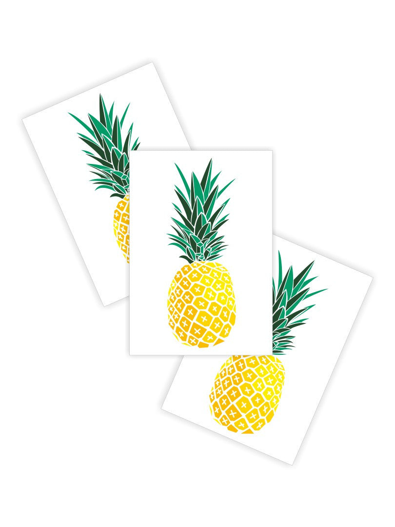 DUCKY STREET kids temporary Tattoo Pineapple designed by duckystreet - 1