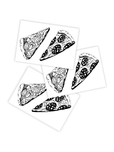 DUCKY STREET kids temporary Tattoo Pizza designed by duckystreet - 1