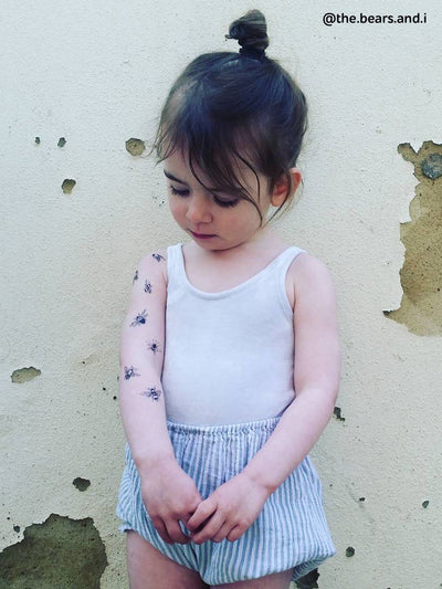 DUCKY STREET kids temporary Tattoo Bees designed by Maria Letta - 4