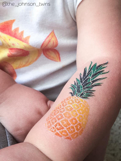DUCKY STREET kids temporary Tattoo Pineapple designed by duckystreet - 4
