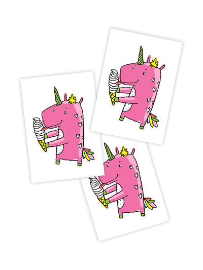 DUCKY STREET kids temporary Tattoo Unicorn designed by Anna Alekseeva - 1