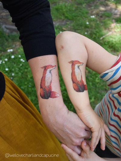 DUCKY STREET kids temporary Tattoo Fox designed by Swiejko - 2
