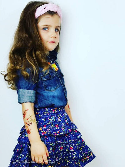 Hippy and gypsy style accessories - flowers temporary tattoos designed by Pink Pueblo and made by Ducky street.