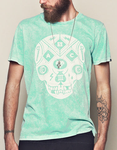 Mint Acid Wash Tee