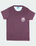 Grape Marl Pocket Tee