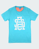 Surf Blue Monogram Tee