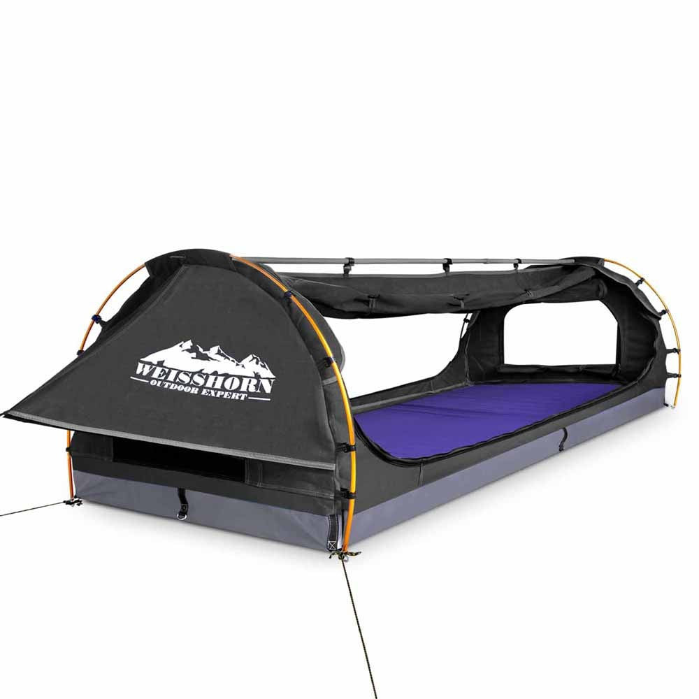 Double C&ing Canvas Swag Tent with Mattress and Air Pillow  sc 1 st  Kingsbury Australia & Double Camping Canvas Swag Tent with Mattress and Air Pillow ...