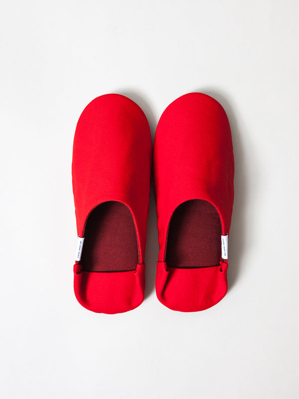 ABE Canvas Home Shoes, Red by Morihata