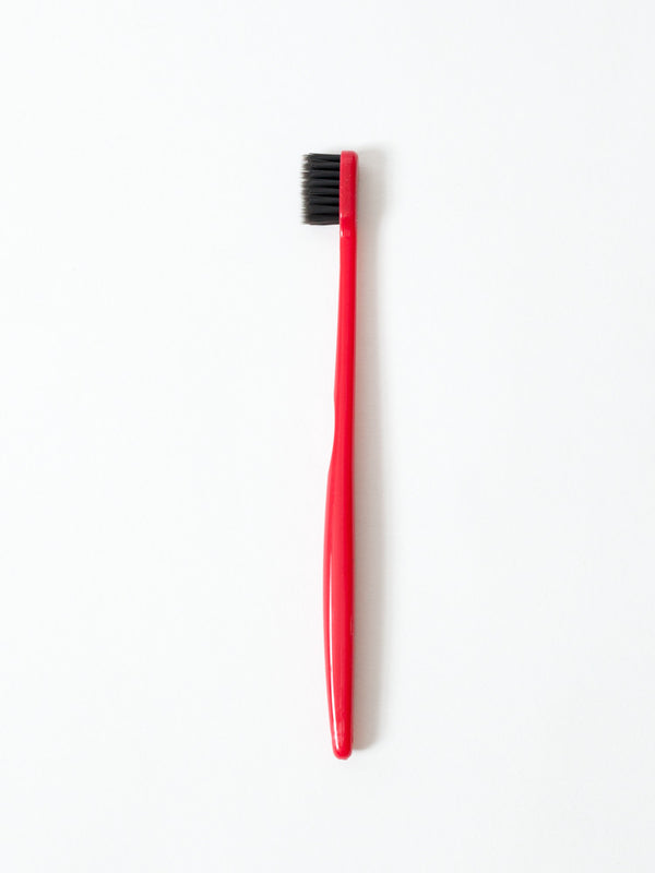 Binchotan Charcoal Toothbrush - Soft Bristles, Red