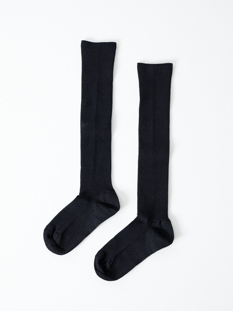 Sasawashi Ladies Boot Socks, Black