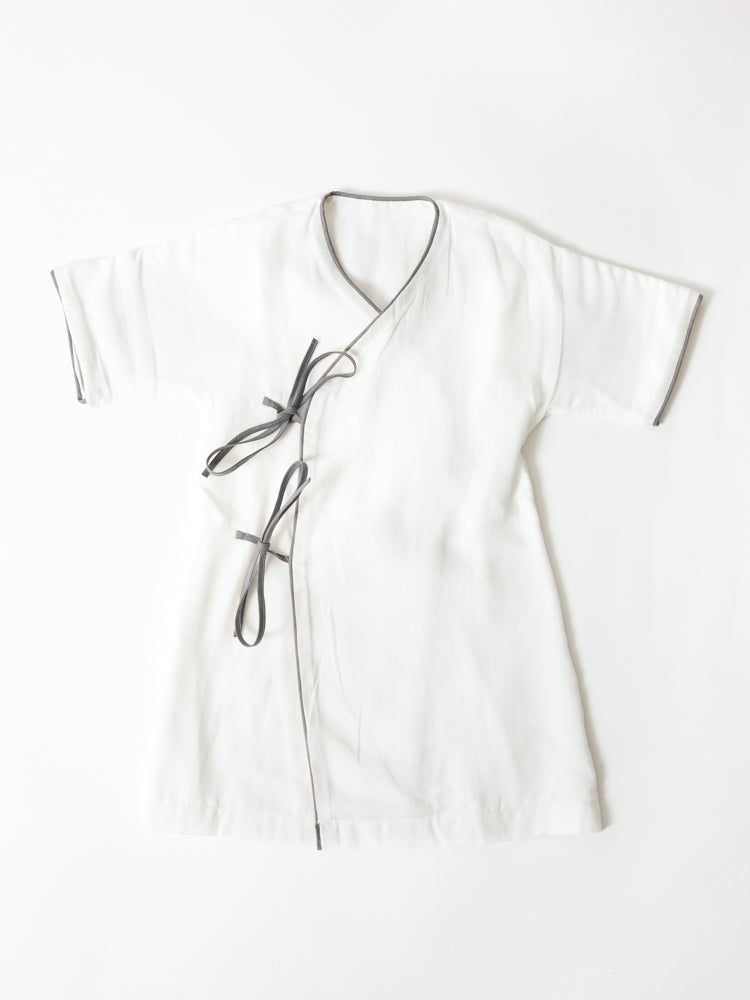 Baby Robe, Grey Trim